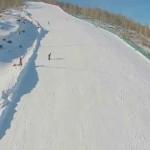 Полет над ГЛЦ на озере Банное