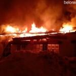 Пожар на территории мини — рынка