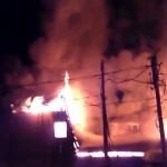 Пожар в Белорецке на минирынке по ул. Ленина