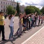Флешмоб на площади Металлургов