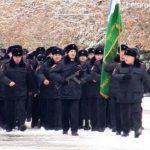 Парад личного состава отдела МВД России по Белорецкому району на площади металлургов
