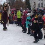 Празднование масленицы на площади «Металлургов»
