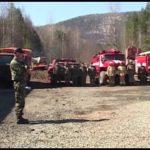 Противопожарные учения в Ревети