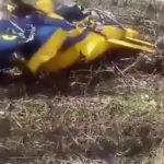 Видео с места крушения вертолета в Белорецком районе