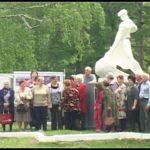 Открытие после реконструкции скульптуры прокатчика в с. Тирлянский