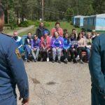 Пожарные учения в лагере «Бригантина»