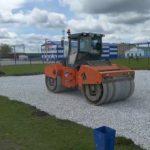 В селе Железнодорожный строится спортивная площадка