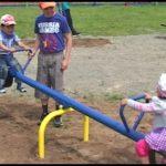 Открытие детской площадки в селе Манышта