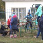 Открытие новой спортивной площадки в селе Железнодорожный