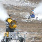 Первый снег на ГЛЦ «Мраткино»