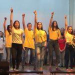 Посвящение в студенты в кинотеатре «Металлург»