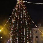 Открытие новогодней елки на площади Металлургов