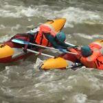 Дежурство спасателей на порогах рек