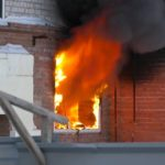 Пожар в новостройке на ул. Ленина