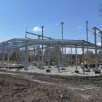 На стадионе «Металлург» продолжаются строительные работы