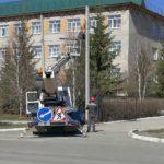 Ремонт уличного освещения на 50 лет Октября возобновился