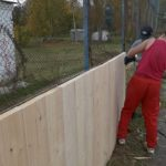 Ремонт хоккейной коробки по ул. Косоротова
