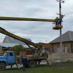 В с. Ломовка проводится капитальный ремонт уличного освещения