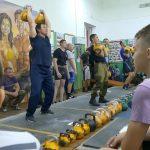 Соревнования по гиревому спорту ко Дню военного связиста