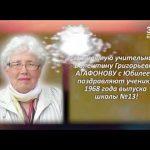 Валентина Григорьевна АГАФОНОВА