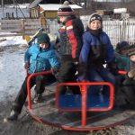 Открытие детской площадки в селе Усмангали