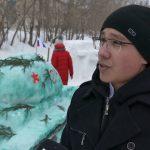 Конкурс снежных фигур в медицинском колледже