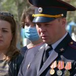 Открытие обновлённого места захоронения участника ВОВА. М. Романова
