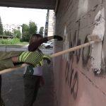 В Белорецке прошел рейд по закрашиванию надписей с рекламой наркотических средств