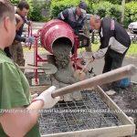 К Дню ВМФ продолжается реконструкция монумента в сквере «40 лет Победы»