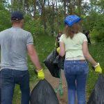 Уборка городского парка и прилегающей к нему территории