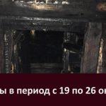 Пожары в период с 19 по 26 октября