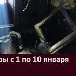 Пожары с 1 по 10 января