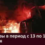 Пожары в период с 13 по 18 января
