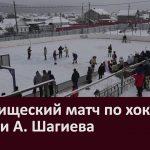 Товарищеский матч по хоккею памяти А. Шагиева
