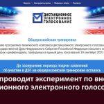 ЦИК РФ проводит эксперимент по внедрению дистанционного электронного голосования