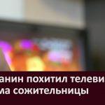 Сельчанин похитил телевизор из дома сожительницы