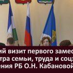 Рабочий визит первого заместителя министра семьи, труда и соцзащиты населения РБ  О.Н. Кабановой