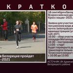 18 сентября в Белорецке пройдет Кросс нации - 2021