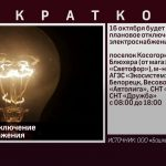Плановое отключение электроснабжения